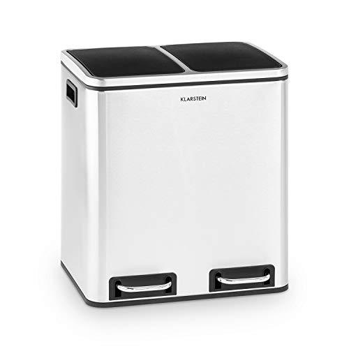 Klarstein Trash Gordon Papelera 30 litros de capacidad con 2 cubos de 15 litros, reciclada, Material...
