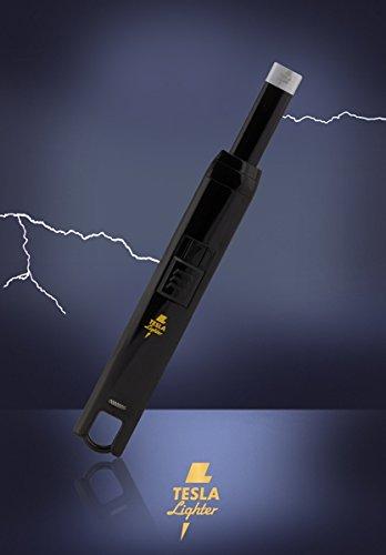 313x5H5%2BTOL - TESLA Lighter T07 | elektronisches USB Lichtbogen Stab Feuerzeug, Schwarz
