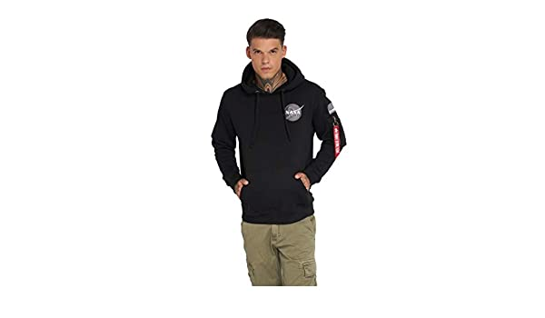 Alpha Industries Space Shuttle sweat à capuche black: Amazon