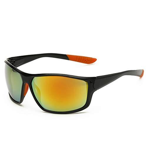 Der Geschmack von zu Hause Sonnenbrillen-Vollformat-Sportsonnenbrillen Winddichte Sonnenbrillemänner, die Windschutzscheibe reiten (Farbe : #3)