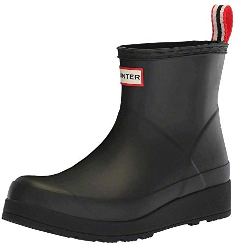 Hunter Original Play Short Wellington Boots, 40/41 EU, Schwarz - Weiß - Rot