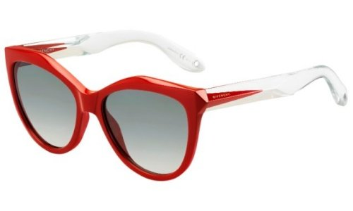 Givenchy gv 7009/s vk pu4, occhiali da sole donna, rosso (red crystal/grey), 55
