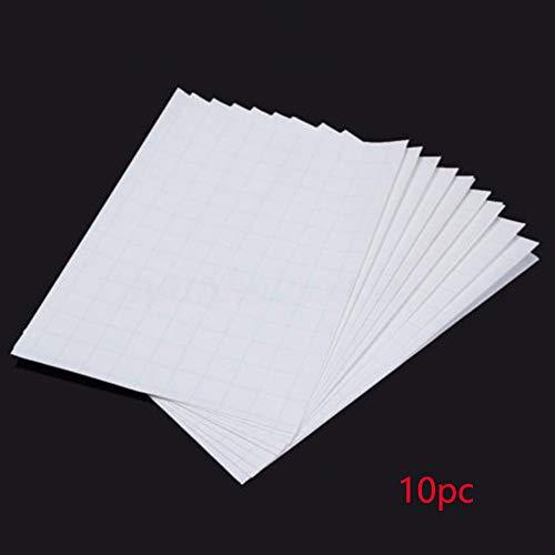 10PCS A4Heat Transfer Paper per stampanti a Getto d' Inchiostro, Compatibile con Luce Color t-Shirt/Fibra Chimica/Panno Misto Cotone/