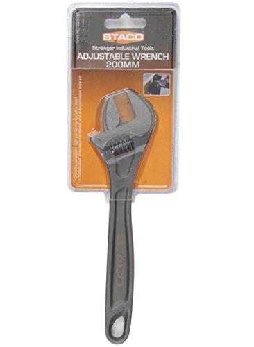 Staco 22109 Clé à molette avec revêtement SoftGrip 200 mm