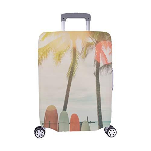 Viele Verschiedene Surfbretter Pattern Spandex Trolley Reisegepäck-Schutzkoffer-Abdeckung 28,5 X 20,5 Zoll
