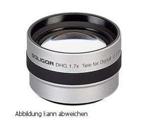 DHG sOLIGOR tele noir convertisseur pour caméscope sONY 1,7 x 30 mm avec diamètre du filetage du filtre, haute résolution.