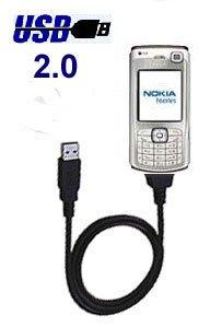 Original Trendline24 USB Datenkabel für NOKIA 3230 / 3250 XpressMusic / 3300 / 5500 Sport / 6085 / 6086 / 6111 / 6125 / 6131 / 6136 / 6151 / 6170 / 6230 / 6230i / 6233 / 6234 / 6260 / 6270 / 6280 / 6288 / 6630 / 6650 / 6670 / 6680 / 6681 / 7270 / 7370 / 7373 / 7600 / 7610 / 7710 / 9300 / 9300i / 9500 / E50 / E60 / E61 / E61i / E65 / E70 / N70 / N71 / N72 / N73 / N77 / N80 / N90 / N92 / N93 / N93i - inkl. samtweichem Transportbeutel