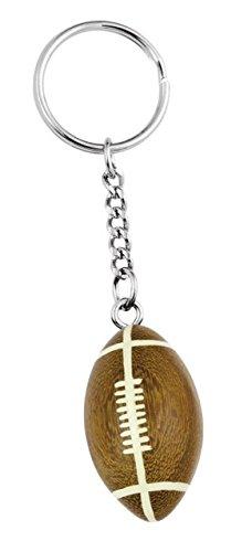 Ten Holz American Football Ball Schlüsselanhänger cod.EL34620 cm 9x2,5x2,5h by Varotto & Co.