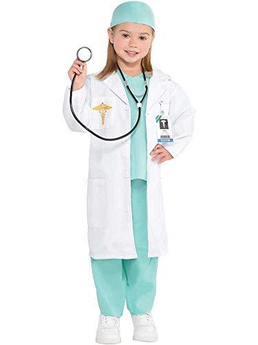 Amscan Doctor Kids Kostüm, Krankenhaus-Chirurgen-Uniform, für Mädchen und ()