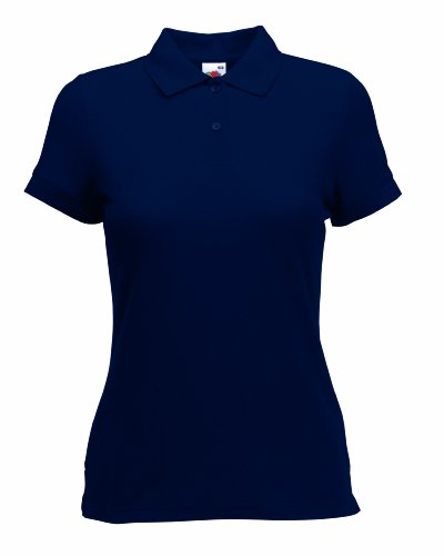 Fruite of the Loom Damen Lady-Fit 65/35 Pique Polo Shirt, vers.Farben Deep Navy