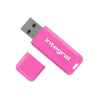 Integral Neon 16GB USB-Stick pink
