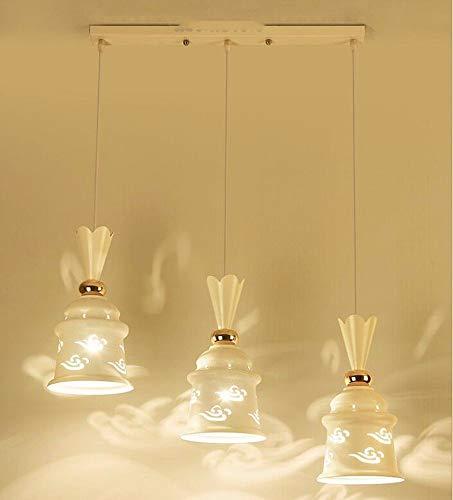 Ein-arm-laufwerk (ZHANG NAN ● * Pendelleuchte Kronleuchter Restaurant Licht Europäischen Stil Kristall Lampe Persönlichkeit 3   Arm Langes Laufwerk 7Wled Glühbirne 50 cm ●)