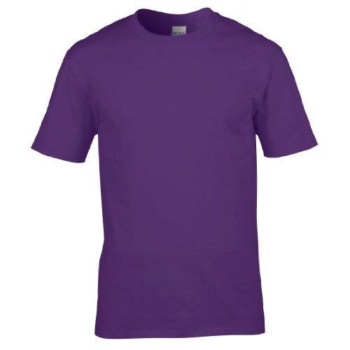 Gildan Premium T-Shirt für Männer (M) (Lila) M,Lila