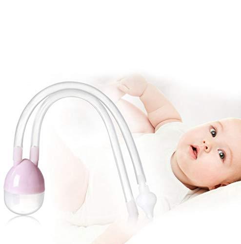HS-ZM-01 Aspiratore nasale per Bambini, Aspirazione della Bocca Pulizia nasale Prodotti di Allattamento Aspiratore nasale, rimozione del muco nasale,Viola