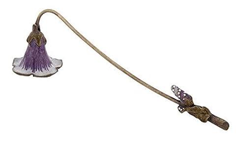 Vintage floral Lily Feuille Violet Vert/Blanc émail en métal Éteignoir à bougie