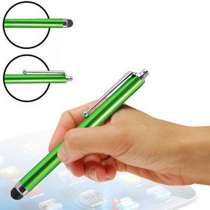 (Green) HTC One S9 Hülle Farbunterlegte Touch Screen Stylus Pens im 3er Pack By Fone Case® -