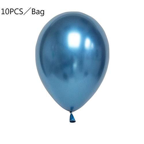 BONNIO 10 Stück glänzende Chrom-Luftballons 12-Zoll-Metallic-Luftballons Latex-Luftballons für Geburtstags-Hochzeitsfeier