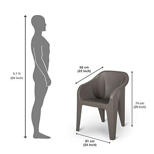 Supreme Futura Plastic Chair (Set of 6)(Champange)