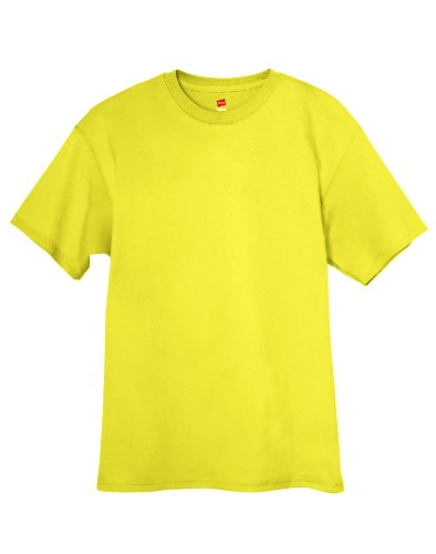 Hanes Tagless T-Shirt Grün - Grün (Safety Green)
