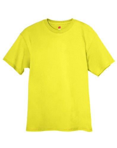 Hanes Tagless T-Shirt Grün - Grün (Safety Green)