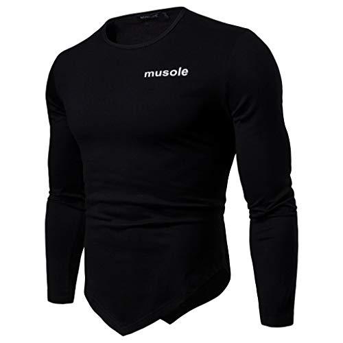 Pullover Für Herren,Unregelmäßigem Sweatshirt Oberteil Resplend Rundhals Muscle Pullover Lange Ärmel T-Shirt Tops Langärmliges Pulli