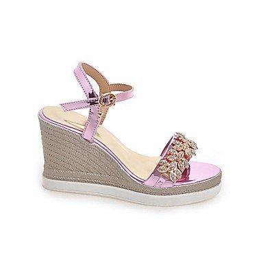 LvYuan Sandali-Formale Casual Serata e festa-Club Shoes-Zeppa Plateau-Finta pelle-Rosa Argento Grigio Dorato Pink