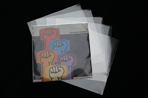500 Stück Premium Single Schutzhüllen hoch transparent 185x185 mm Vinyl 7 Zoll Sleeve -