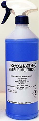 Ecobrillo Detergente concentrato per vetri e finestre, 1L