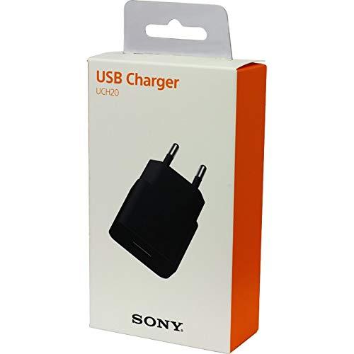 Cargador Carga Rapida Original Sony UCH20 + Cable Micro-USB para Xperia Z3+, Z5, Compact, Premium, Xperia X, Negro, Blister
