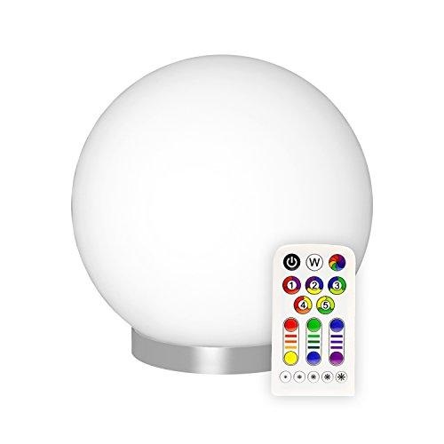 Müller-Licht LED-Tischleuchte, EEK A, mit Farbwechsel und Warmweiß inkl. Fernbedienung und Batterie ML57044 Kugel Form RGB+
