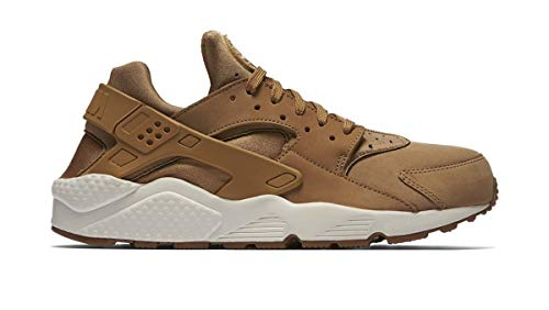 Nike Air Huarache, Sportschuhe für Herren, weiß/braun (Flax/Sail-gum/Brown) - Größe: 44 EU