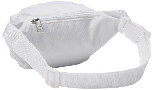 Everest Unisex Fabric Organizer Adjustable Fanny Waist Pack, Red Weiß
