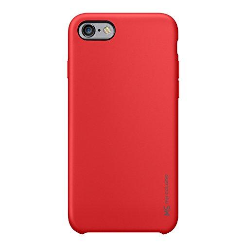 """MOONCASE iPhone 6/iPhone 6s Hülle, Weich TPU Kratzfest Stoßfest Schutztasche Ultra Slim Schroff Rüstung Handysocken Case für iPhone 6/iPhone 6s 4.7"""" Black Red"""