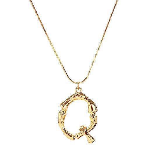 EUCoo Mode Halsketten Frauen Geschenk 26 Englisch Brief Name Kette AnhäNger Halsketten Schmuck(Gold,Q)