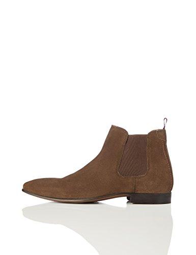 find. Herren Chelsea Boots Rauleder, Braun (Brown), 42 EU