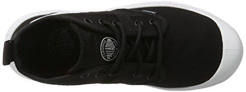 Palladium Pallaville Hi Deux, Sneakers Basses Mixte Adulte Noir (Black/white)