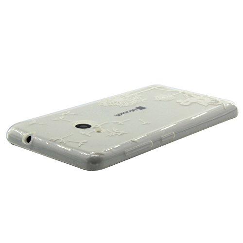 Coque Nokia N535,Coque Lumia 535, Cozy Hut ® Lumia 535 Nokia N535 Coque de Protection Housse Etui TPU Transparent Souple Case Cover Shock-Absorption Bumper et Anti-Scratch Effacer Premium Gel Silicone cyclisme Dandelion