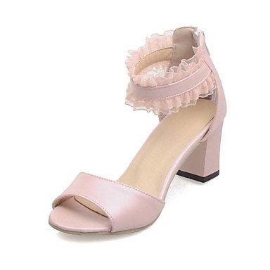 CH&TOU Da donnaFormale-Aperta-Quadrato-Finta pelle-Blu / Rosa / Beige Pink