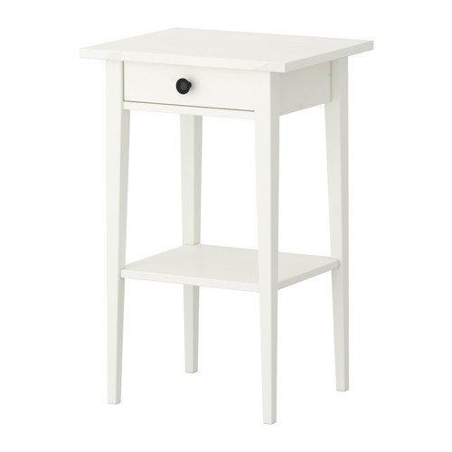 Ikea HEMNES-Nachttisch-46x 35Zentimeter-Farbe: weiß