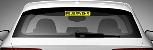 Dinger-Design Feuerwehr Aufkleber Polizei DRK Sticker Decal Stickerbomb 20x4cm gelb