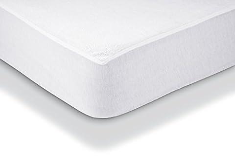 AmazonBasics Protège-matelas en tissu éponge imperméable 90 x 190 cm
