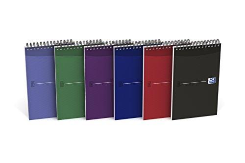 Oxford Office Journalisten-Notizbuch, 140Seiten, 125x200mm, 10 Stück, sortiert
