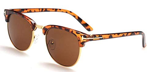 BYBAY Männer Frauen Super Star Promi Sonnenbrillen fahren, Leopard vTee