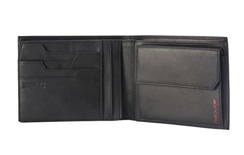 Billfold Coin Wallet (Samsonite - Prod-DLX 4S RFID Billfold 8CC+2COMP 7CC+VFLAP+Coin+2C+W Münzbörse, 14 cm, Black)