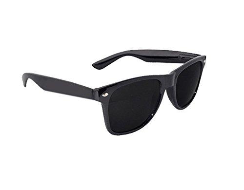 Schwarz Retro Wayfarer Style Sonnenbrille Unisex