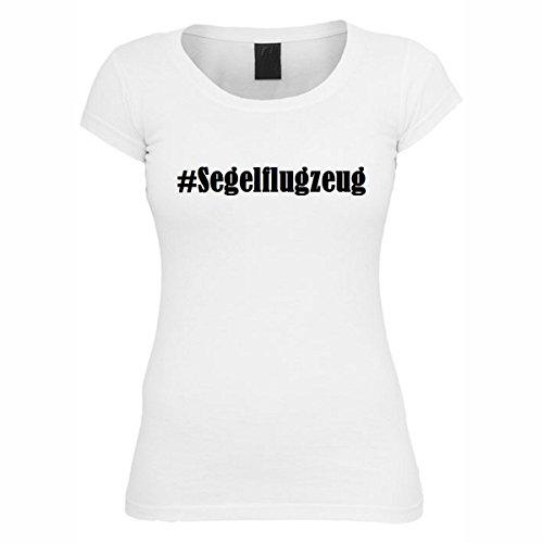 T-Shirt #Segelflugzeug Hashtag Raute für Damen Herren und Kinder ... in der Farbe Weiß Weiß