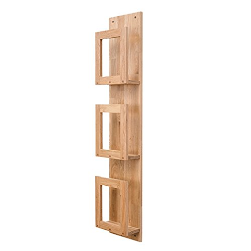 Display separatore per rack per decorazione dell'u scaffali di stoccaggio in legno di quercia da parete scaffali di scaffali per libri a libro multi-tier rack semplicità moderna scaffale in soggiorno / negozio / cucina ( dimensioni : 3 tiers(110cm) )