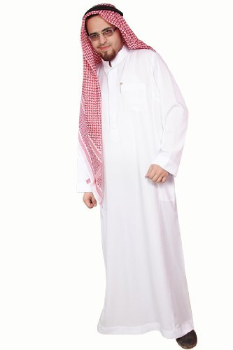 Dreiteiliges Araber Scheich Kostüm Scheichkostüm, Karnevalskostüm - Faschingskostüm-Größe: XXXL, (Saudi Arabischer Tracht)