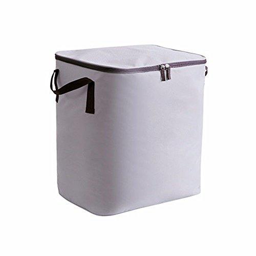 SQUEEQEES Oxford Tuch Patchwork Quilt Tasche Tasche Kleidung Feuchtigkeitssperre Tasche 46 * 30 * 48 cm Aufbewahrungsboxen Grau