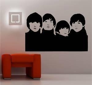 Online Design The Beatles Graffiti Stil Wandaufkleber Wandkunst aus Vinyl - Rot (Beatles-rotes Vinyl)